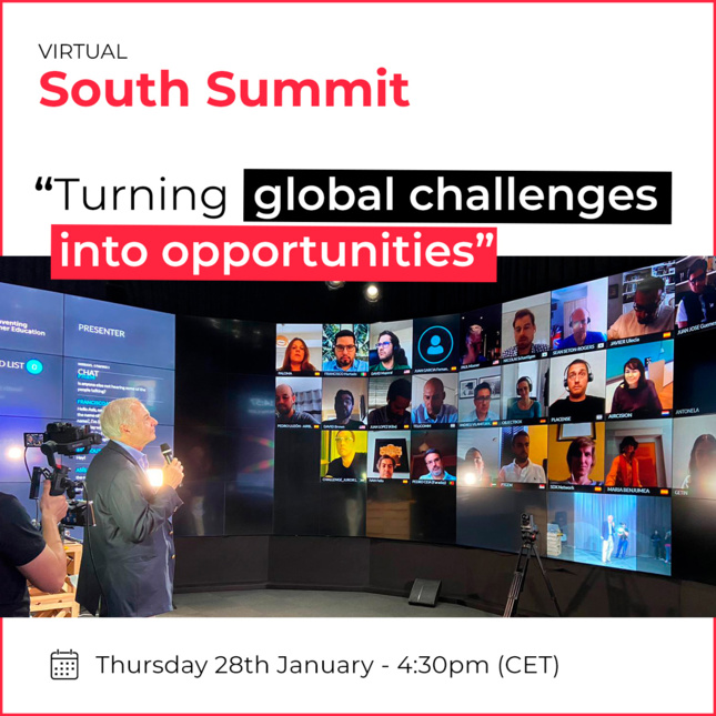 TURNING GLOBAL CHALLENGES IN OPPORTUNITIES January 28th - 4:30 PM (CET)